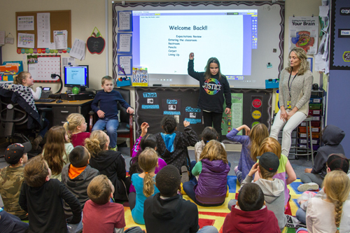 Elementary students learn how to take on leadership roles and develop self-confidence