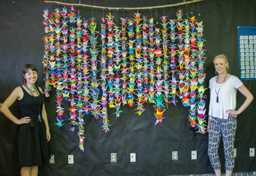 Woodland Intermediate School created 1,000 paper cranes to rally support and inspire a third grader's recovery from surgery