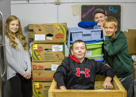 Woodland Middle School students learn the value of giving back by volunteering at community charities and local churches