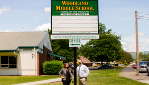 Woodland Middle School held a fire drill today, Wednesday, May 23, 2018