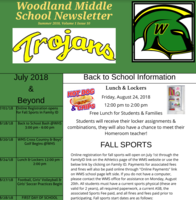 Woodland Middle School's Summer Bulletin is here