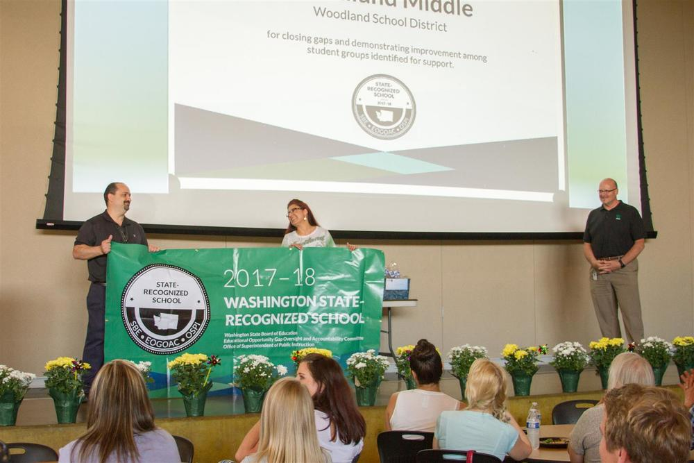 Woodland Middle School one of 34 Washington middle schools to receive 2019 State Recognized School Award