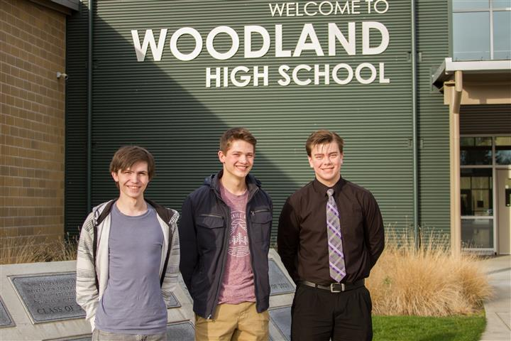 Three Woodland High School students make a one-in-a-million chance with all three earning perfect 800 math scores on the SAT