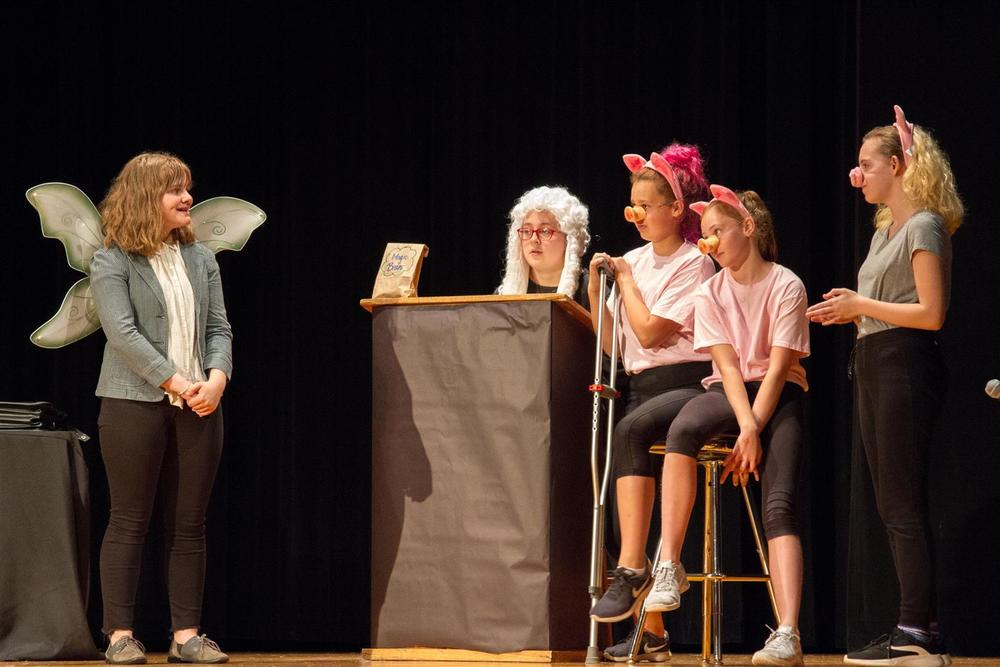 Woodland Middle School's new Drama Class and After-School Club performed 'Big Bad,' the school's first play in more than five years