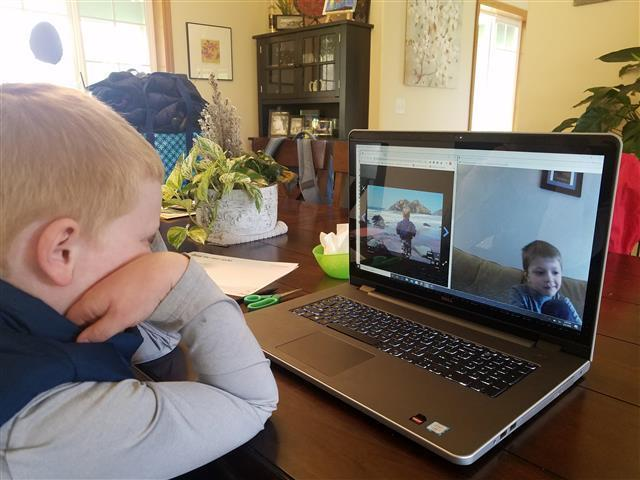 Woodland parent-teacher uses video conferencing to create a team learning solution