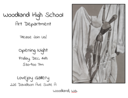 Local Woodland gallery will exhibit student art on Friday, December 14