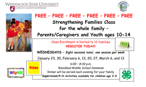 Families of youth ages 10-14 can participate in a free Strengthening Families class