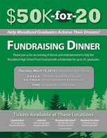 Join us for the $50k-for-20 Fundraising Dinner on March 14, 2019!
