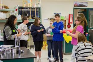 Woodland Middle School students learn how dropping out of high school could affect their futures during special in-school workshop