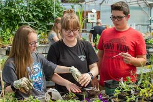 Horticulture students at Woodland Middle School learn how to research plants, make their own herbicides, grow plants from seeds and more!