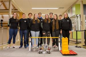 Woodland High School's Beaver Bots, the school's FIRST robotics team, qualified for and competed in State Finals