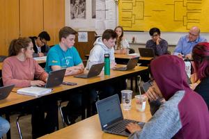 March Madness sweeps up Woodland High School students as they debate the significance of 16 different Supreme Court cases
