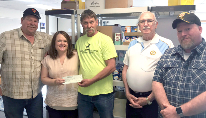 The Moose Lodge, a Woodland business, recently donated $500 to Woodland Public Schools' Food Pantry Program which will help feed families-in-need through the end of the school year.
