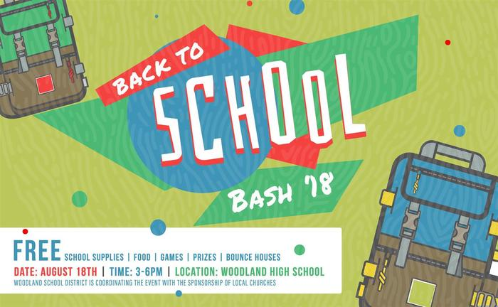 Save August 18, 2018 for Back to School Bash 2018