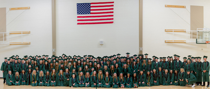 Woodland Public Schools celebrated its 110th graduating class, its largest ever with 155 graduates