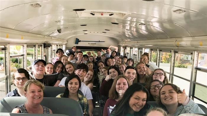 Students in Sharon Conditt's AP Government class attended the Herrera Beutler v. Long Congressional Debate in Woodland on September 18