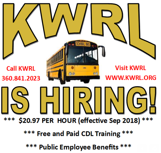 KWRL is hiring school bus drivers - November 2018