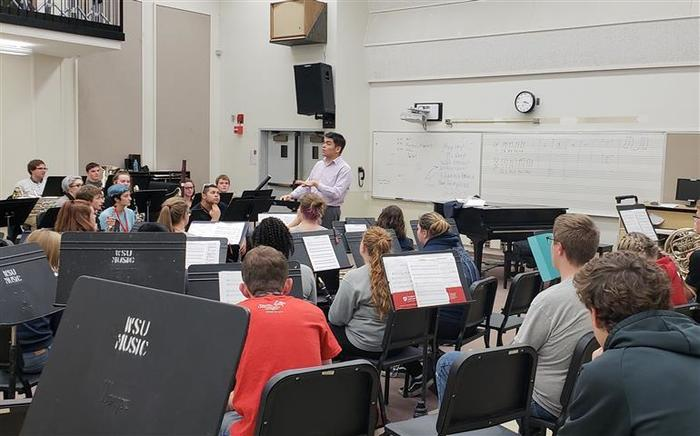 WHS Band Students participate in Music Major for a Day