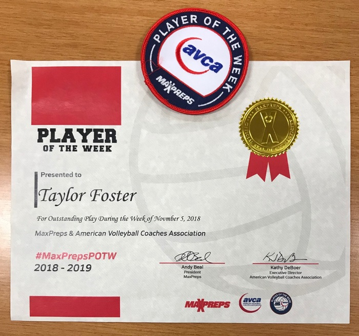 Max Preps AOY Taylor Foster