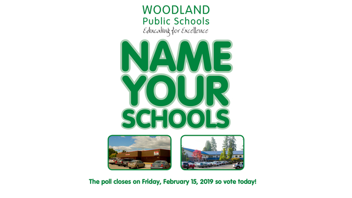 Vote for your favorite name-pair for Woodland Primary School and Woodland Intermediate School