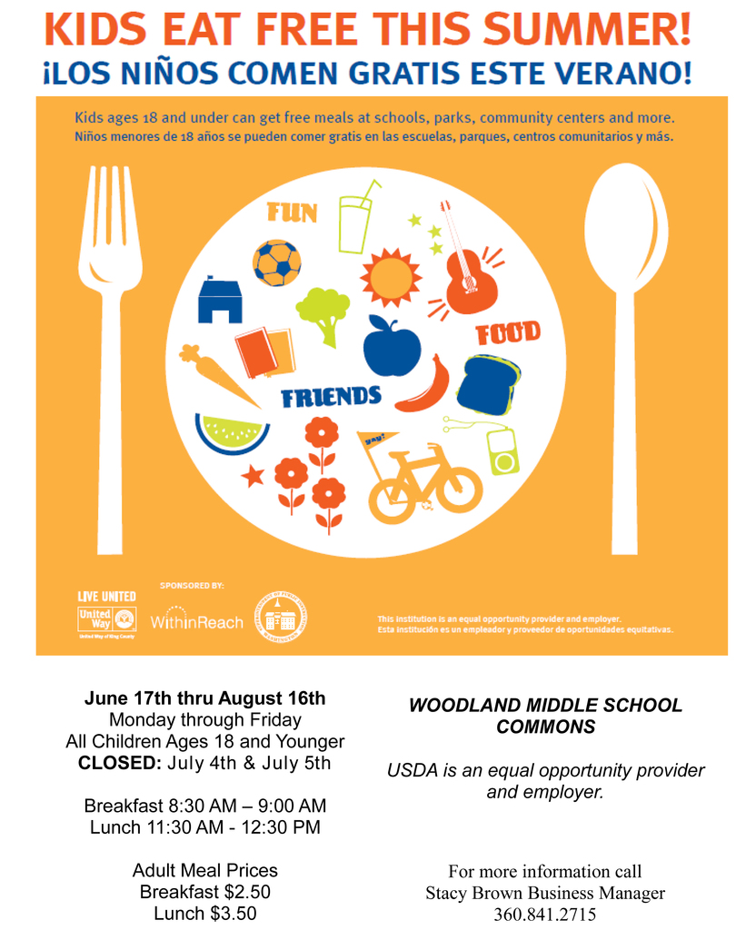 Kids eat free this summer at Woodland Public Schools