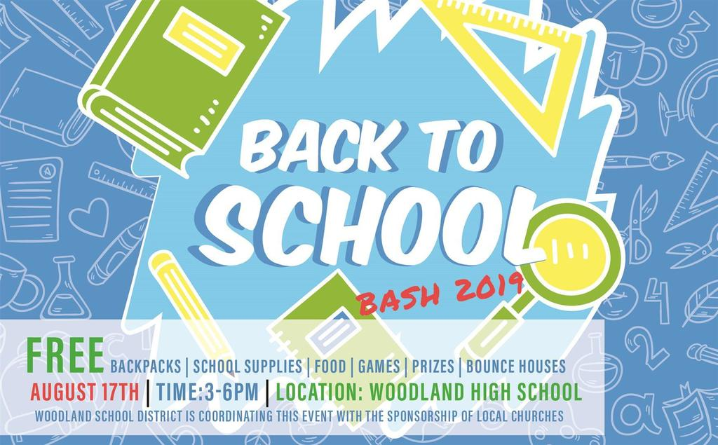 Woodland Public Schools' annual Back to School Bash provides free backpacks filled with school supplies to students in need from Woodland and its surrounding areas