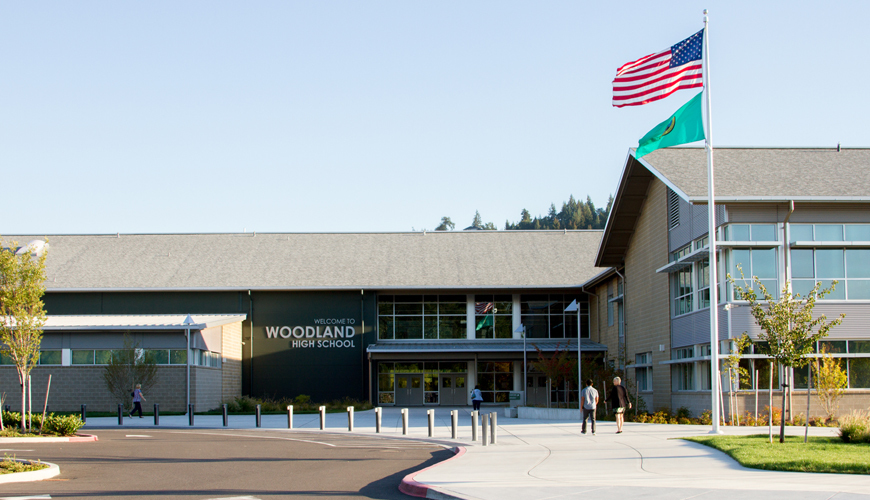 Woodland High School in Woodland, WA