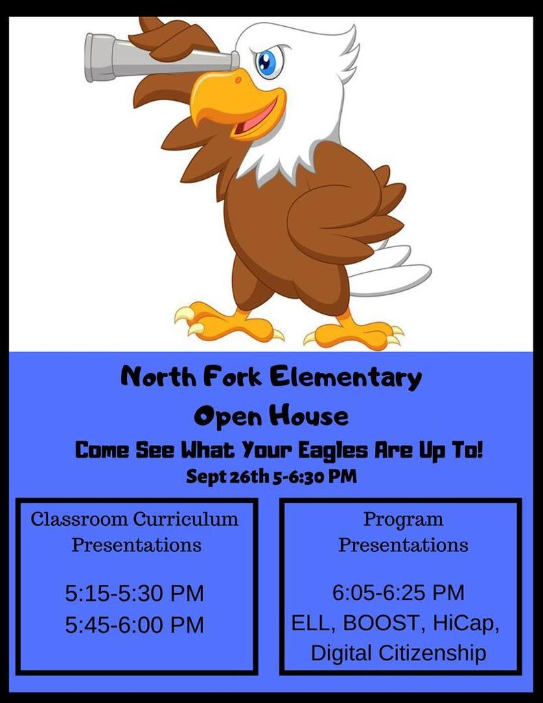 NFES Open House this Thursday, September 26, 2019 at 5 p.m.