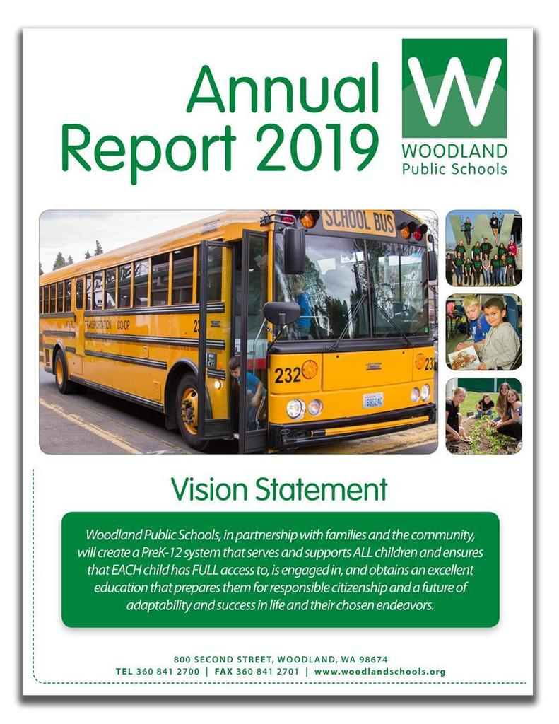 The Woodland Public Schools Annual Report 2019 provides a summary of the 2018-2019 school year.