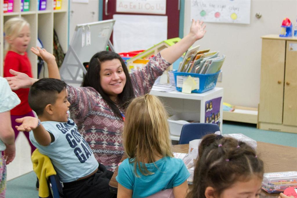 Anahisse Hodge teaches one of two dual language kindergarten classes at Columbia Elementary.
