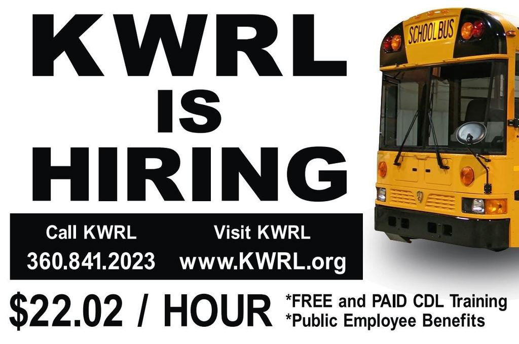 KWRL is hiring school bus drivers