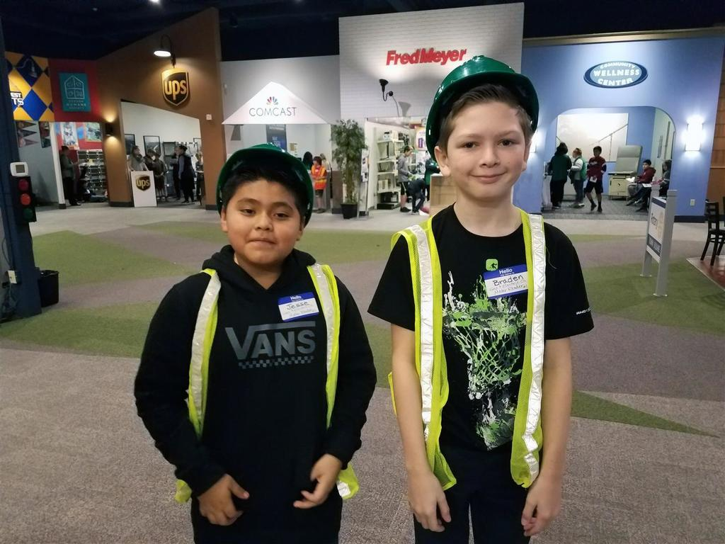 Woodland's local Walmart awarded a grant to help pay for Robin Uhlenkott's sixth grade classes to attend JA BizTown where they put financial literacy & business skills to the test. (Pictured: 2018 Field Trip)
