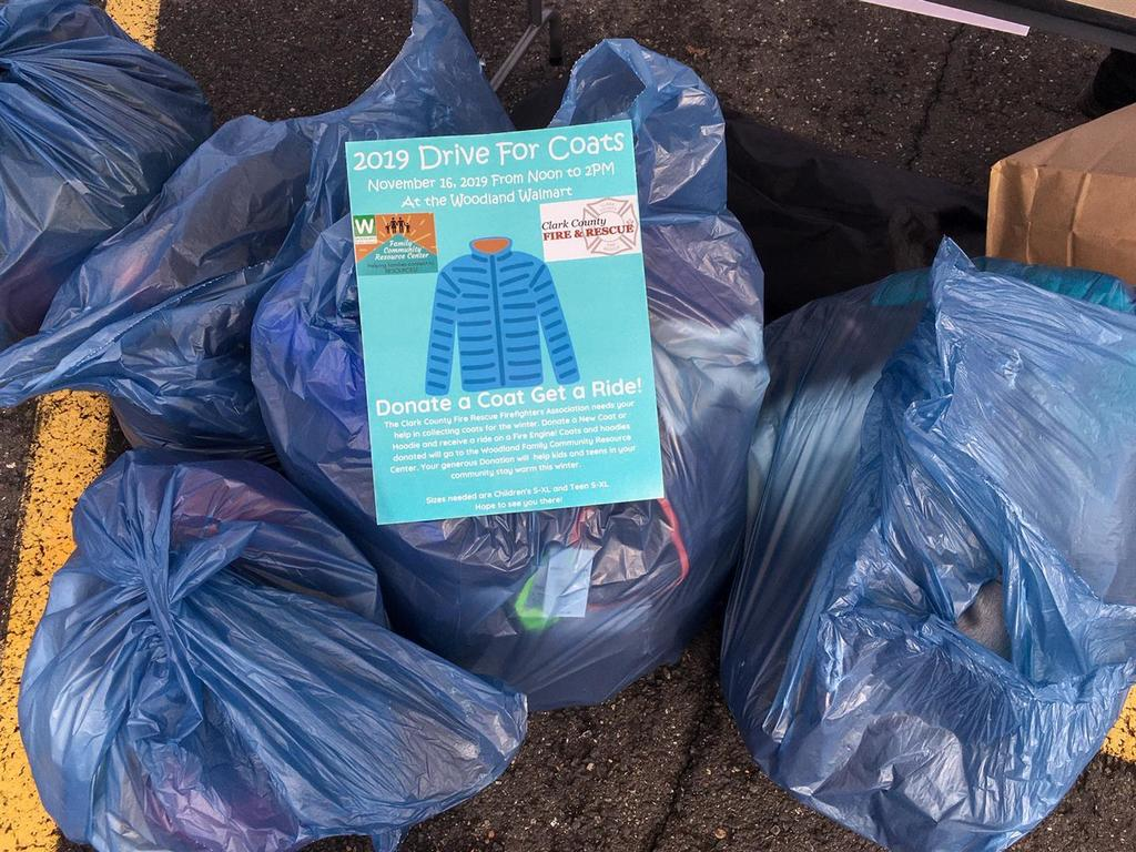 The Woodland community donated more than 130 new winter coats and jackets for Drive for Coats 2019!
