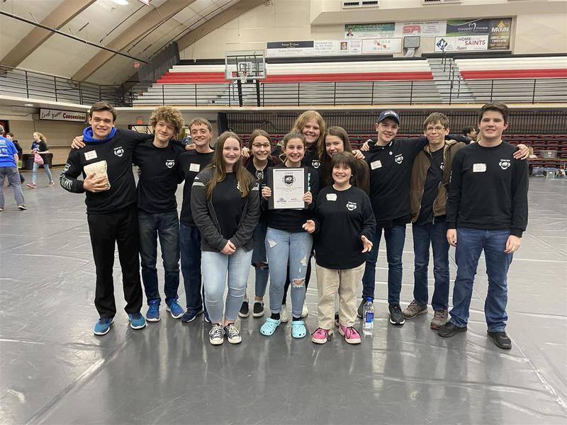 The Beaver Bots' Inspire Award qualified them to participate in the State Finals