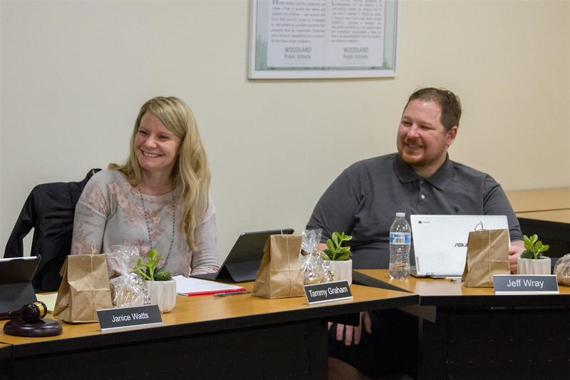 Tammy Graham and Jeff Wray both view serving on the school board as a way to give back to the Woodland community.