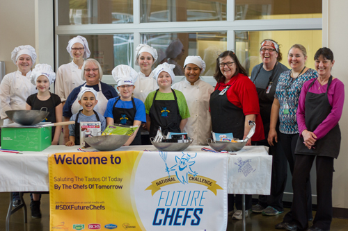 Third and fourth graders competed in the annual Future Chefs of America event.