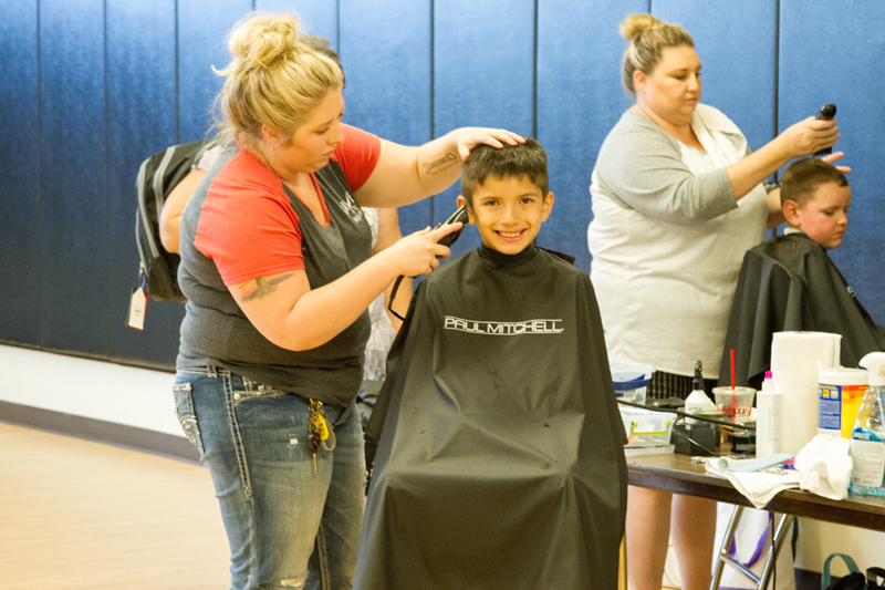 Attendees could also receive free haircuts and access other services at the event