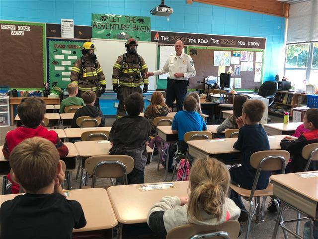 Students learned about fire safety, calling 911, and more!