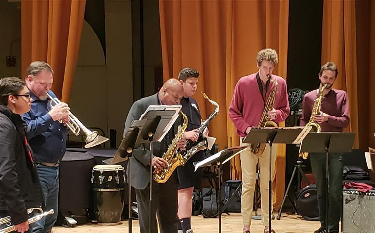 Students attended college classes and played alongside college musicians