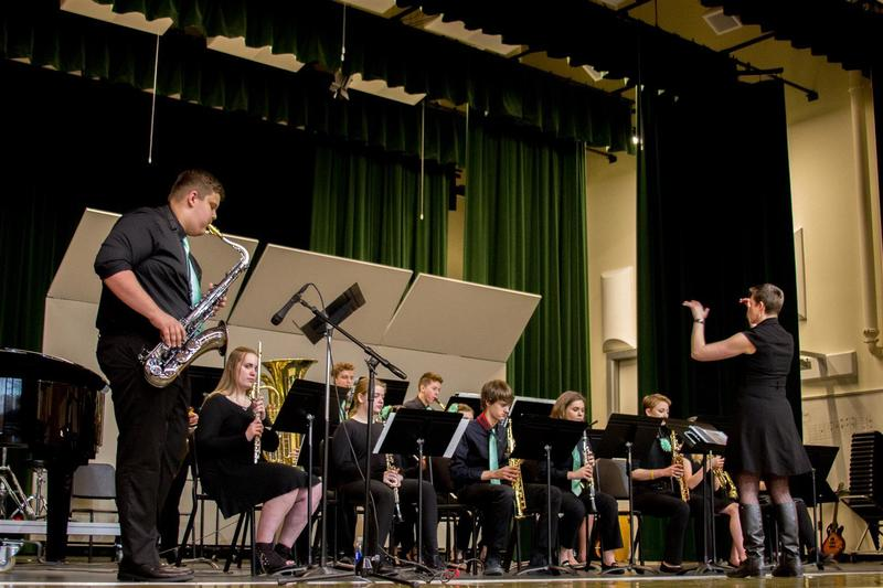 The Woodland High School Jazz Band performed a number of excellent songs as part of the event
