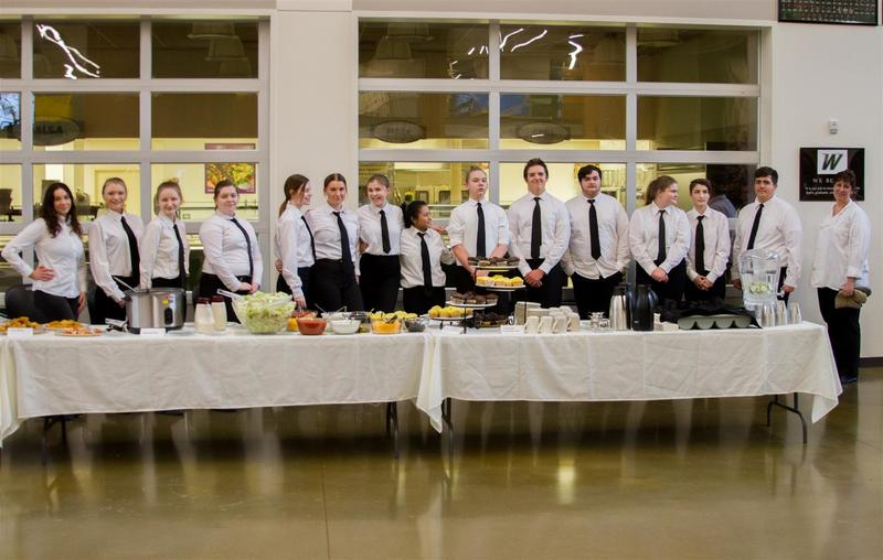 Kimberly Miller's Culinary Arts students prepared and served the food for the event
