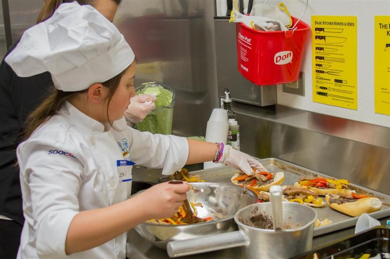 Student chefs prepare enough of their recipe to be enjoyed by everyone who attends the event!