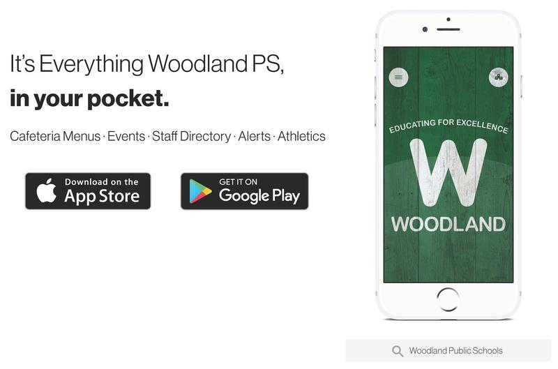 Download the Woodland Public Schools app for Google Android or Apple iOS