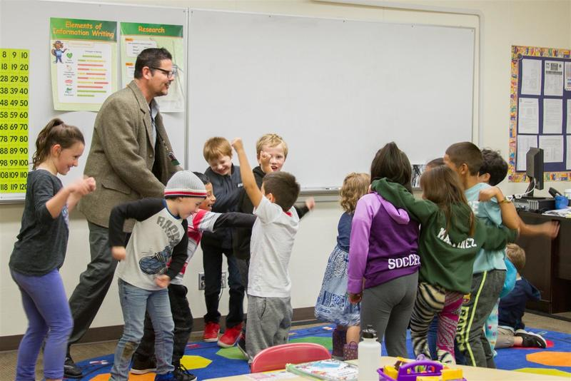 Franklin Collazo, who started a dual language program in San Jose, CA with his wife, currently teaches a 1st-2nd grade class as he prepares to teach the second grade Dual Language students next year.